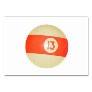 Billiards Ball #13 Table Card