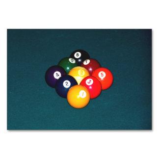 Billiards Nine Ball Table Cards