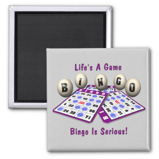 Bingo Is Serious Square Magnet