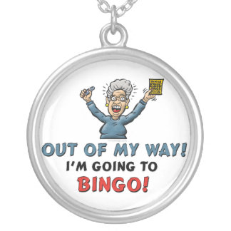 Bingo Lovers Round Pendant Necklace