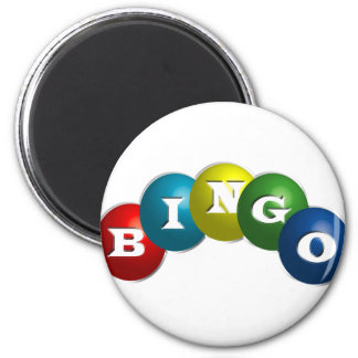Bingo or Lotto - option to personalize your gear. 6 Cm Round Magnet