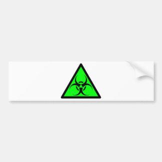 Bio Hazard or Biohazard Sign Symbol Warning Green Bumper Sticker