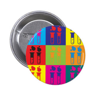 Biochemistry Pop Art 6 Cm Round Badge