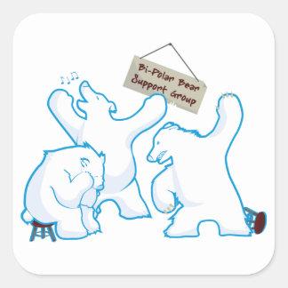 Bipolar Bear Square Sticker