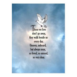 "Bird ""So Loved"" Poem Postcard"