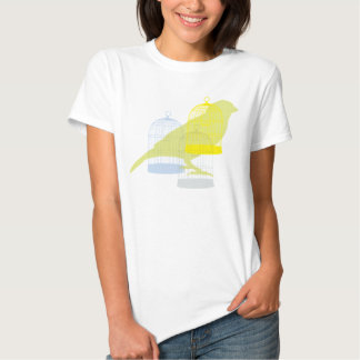 Bird with cages t shirt
