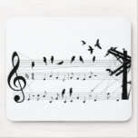 Birds on a Score mousepad