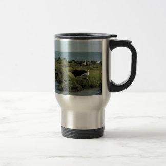 Birds view stainless steel travel mug