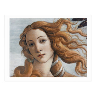 Birth of Venus close up head Postcard