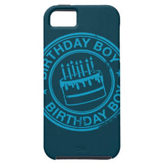 Birthday Boy -blue rubber stamp effect- Tough iPhone 5 Case