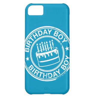 Birthday Boy -white rubber stamp effect- iPhone 5C Case