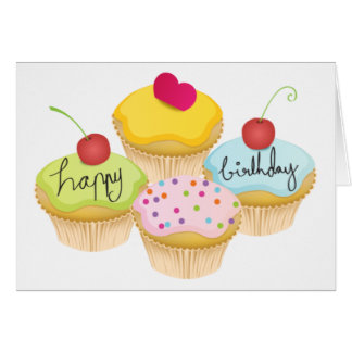 Birthday Cupcakes Greeting Card