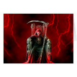 Birthday Grim Reaper On His Throne Greeting Card