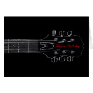 Birthday Guitar Card (Black)