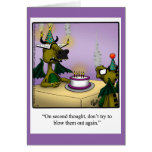 Birthday Humour Dragons Greeting Card For Kids