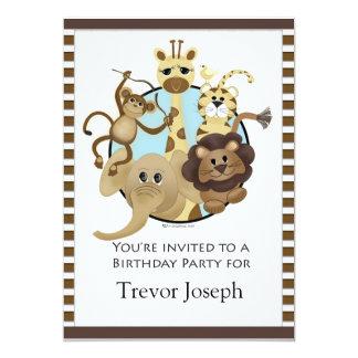 Birthday Party Invitiation Safari Style 13 Cm X 18 Cm Invitation Card