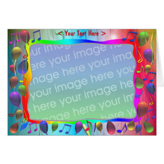 Birthday Party Music Mix (photo frame) Greeting Card