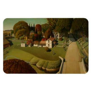 """""""Birthplace of Herbert Hoover"""" Grant Wood Magnet"""