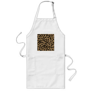 Black and Brown Cheetah Print Pattern. Long Apron