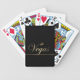 Black and Gold Las Vegas Poker Cards