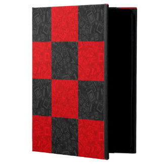 Black and Red Checkered Pattern iPad Air Case
