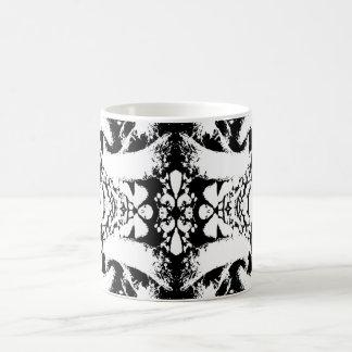 Black and White Abstract. Basic White Mug