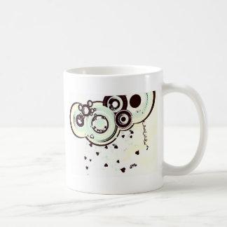Black and White Abstract Design Basic White Mug