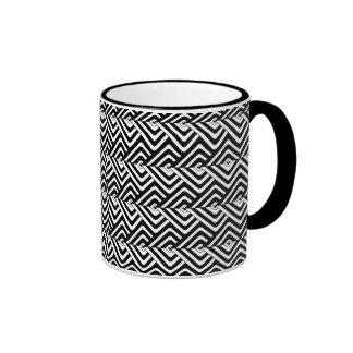 Black and White Abstract Ringer Mug