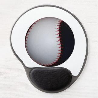 Black and White Baseball / Softball Gel Mouse Pad