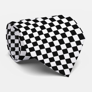 Black And White Classic Checkerboard by STaylor Tie