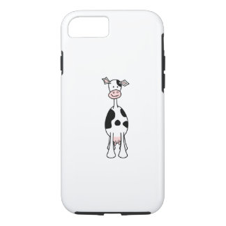 Black and White Cow Cartoon. Front. iPhone 7 Case