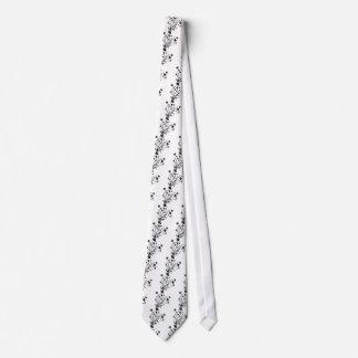 Black and White Floral Burst Tie