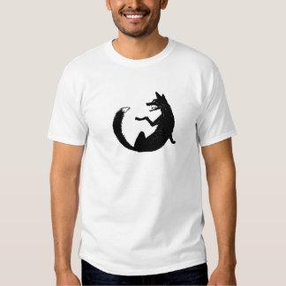 Black and White Fox Emblem Symbol T Shirts