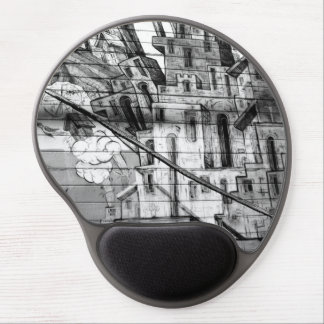 Black and White Graffiti in San Francisco Gel Mouse Pad