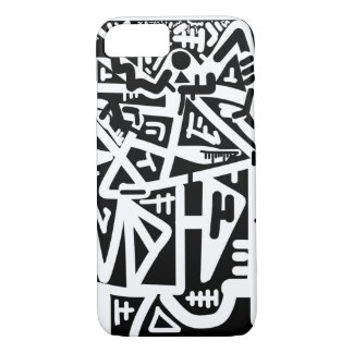 Black and white horizon face iPhone 7 case
