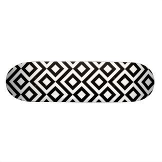 Black and White Meander Custom Skate Board