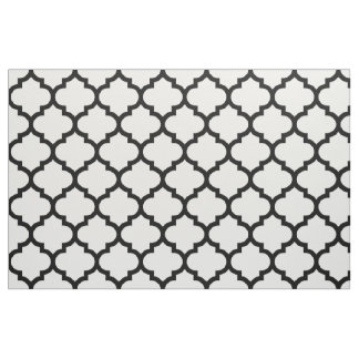 Black and White Moroccan Trellis Pattern Fabric