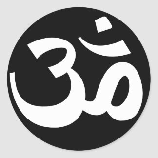Black and White Om Stickers