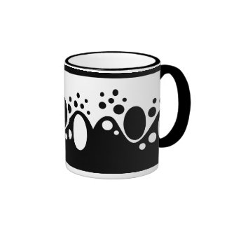 Black and White Original Abstract Ringer Mug