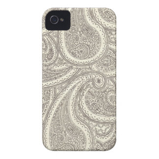 Black and White Paisley Pattern iPhone 4 Cases