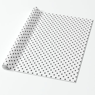 Black and White Polka Dot Pattern Wrapping Paper