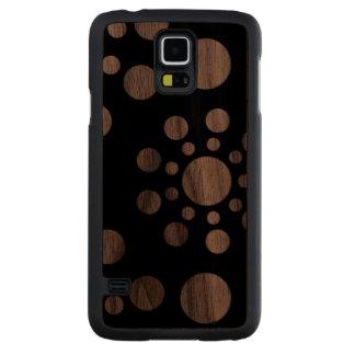Black and White spiral dots Walnut Galaxy S5 Case