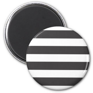 Black and White Stripes Magnet