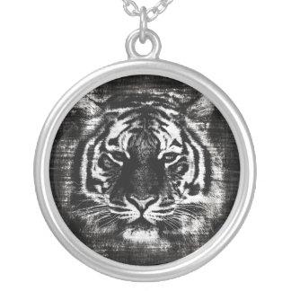 Black and White Tiger Vintage Necklace