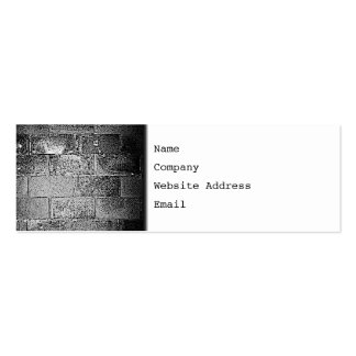 Black and White Wall. Digital Art. Pack Of Skinny Business Cards