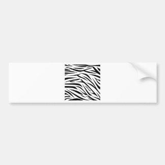 Black and White Zebra Stripes Bumper Sticker