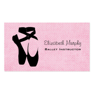 Black Ballet Shoes En Pointe Pack Of Standard Business Cards