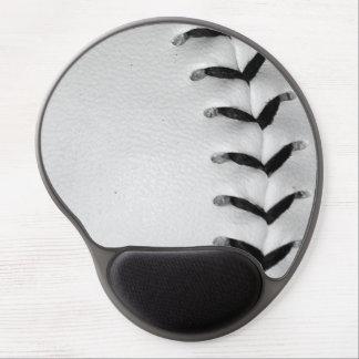 Black Baseball / Softball Stitches Gel Mouse Pad