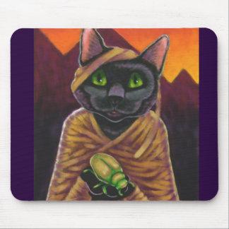 Black Cat Mummy Mouse Pad
