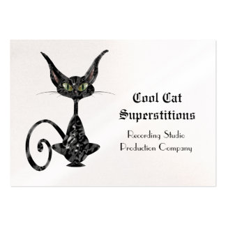 Black Cat Superstitious Cool Pack Of Chubby Business Cards